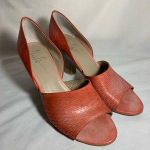 Franco Sarto The Artist's Collection open toe heel